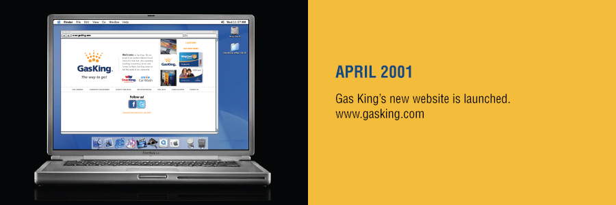 Gas King - History Timeline - April 2001