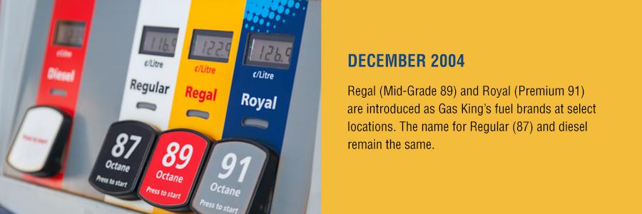 Gas King - History Timeline - December 2004