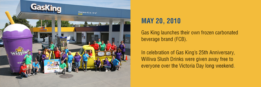 Gas King - History Timeline - May 20, 2010