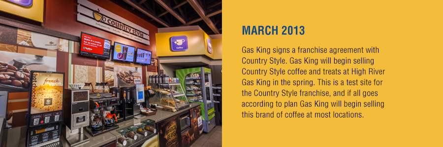 Gas King - History Timeline - March 2013
