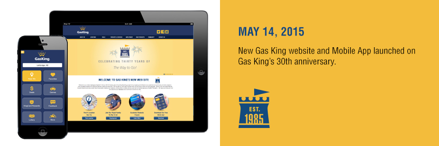 Gas King - History Timeline - May 14, 2015