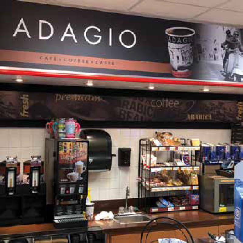 Adagio coffee stand